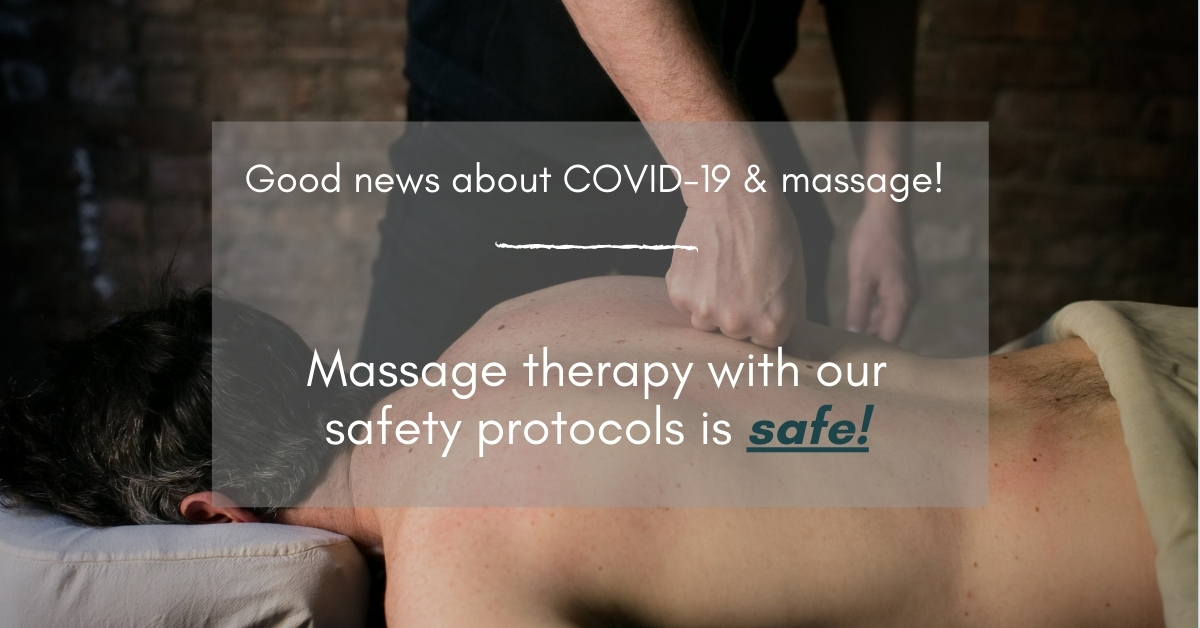 covid-19 and massage therapy is #covidsafe
