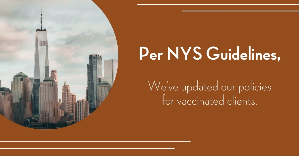 updated guidelines for vaccinated massage clients at Bodyworks DW